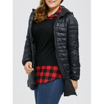 Hooded Plus Size Quilted Jacket