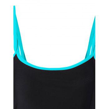 Plus Size Padded One Piece Swimsuit - LAKE BLUE 2XL