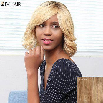 Buy Siv Hair Side Bang Short Shaggy Wavy Bob Human Wig BLONDE