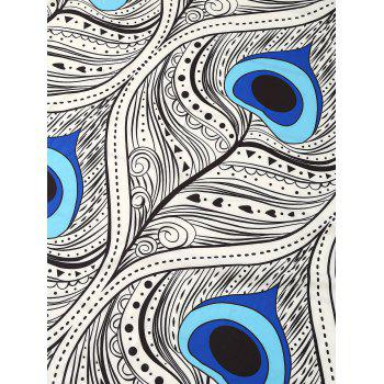 Indian Round Peacock Mandalas Tassel Beach Throw - COLORMIX COLORMIX