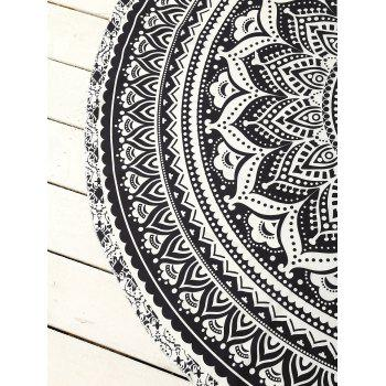 Cover Up Printed Circle Beach Throw - ONE SIZE ONE SIZE