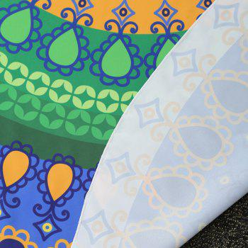Tribal Geometric Printed Round Beach Throw - COLORMIX COLORMIX