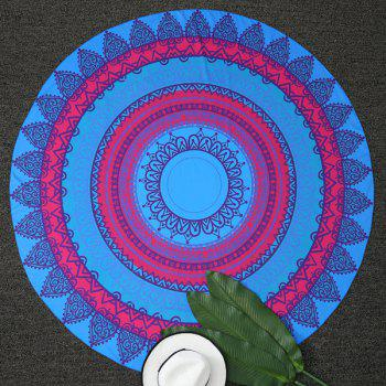 Indian Geometry Printed Round Beach Throw