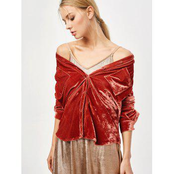 Cosy Shirt Neck Velour Shirt