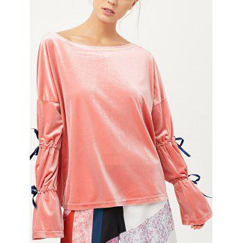 Split Sleeve Velvet Top