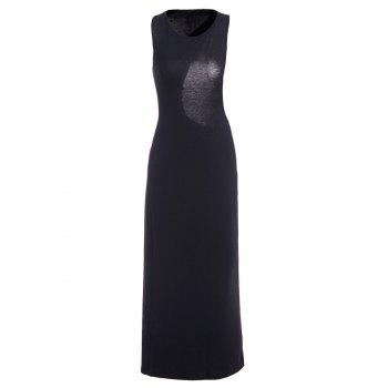 Sexy Style Jewel Neck Asymmetrical Backless Sleeveless Dress For Women