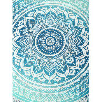 Cape Printed Rectangle Beach Throw - GREEN GREEN