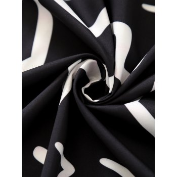 Round Argyle Mandalas Tassel Beach Throw - BLACK ONE SIZE