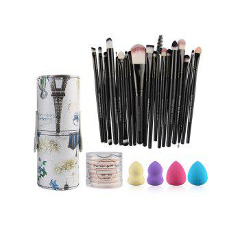 20 Pcs Makeup Brushes Kit + Makeup Sponges + BB Cream Air Puffs