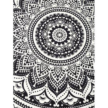 Cover Up Printed Circle Beach Throw - BLACK ONE SIZE