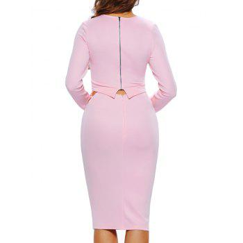 Strappy Crop Top and High Waisted Bodycon Skirt - PINK S