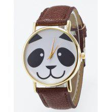Panda Face Dial Plate Quartz Watch