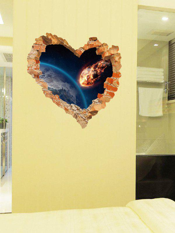 2018 Removable Creative Removable 3D Love Broken Wall Sticker ...
