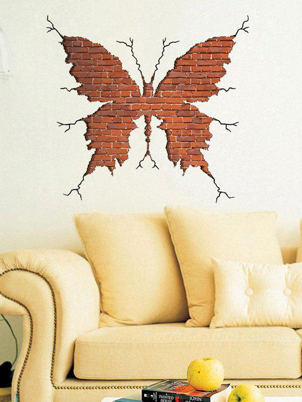 Removable Creative Removable 3D Butterfly Broken Wall Sticker vinyl removable 3d love broken wall sticker