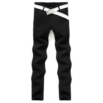 Slim Fit Ziper Fly Casual Pants