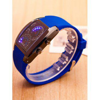 Sport Silicone Strap Watch -  BLUE