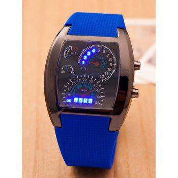 Sport Silicone Strap Watch - BLUE BLUE