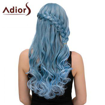 Adiors Long Half Braid Side Bang Wavy Synthetic Wig
