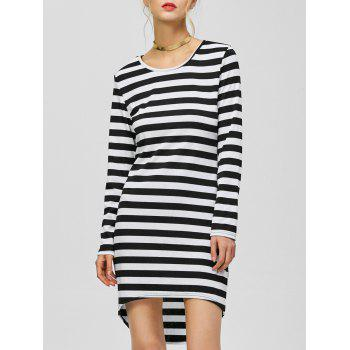 Casual Striped High Low Dress