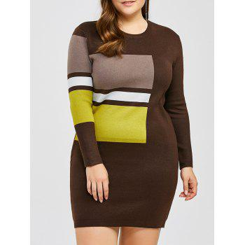 Plus Size Mini Bodycon Jumper Dress