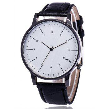 Faux Leather Band Number Wrist Watch