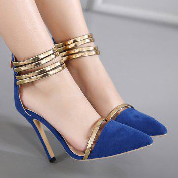 Buy Strappy Two Piece Pumps BLUE