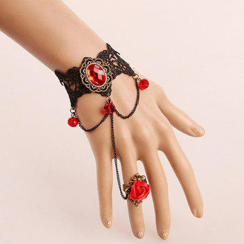 Lace Rose Vintage Bracelet with Ring