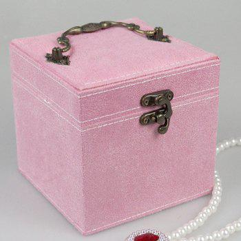 Metal Handle Jewelry Holder -  PINK