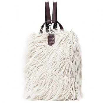Convertible Faux Fur Backpack
