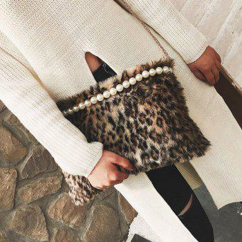 Faux Fur Beaded Crossbody Bag