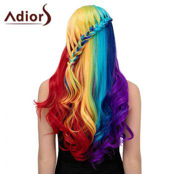 Adiors Long Centre Parting Colorful Side Braided Wavy Synthetic Wig