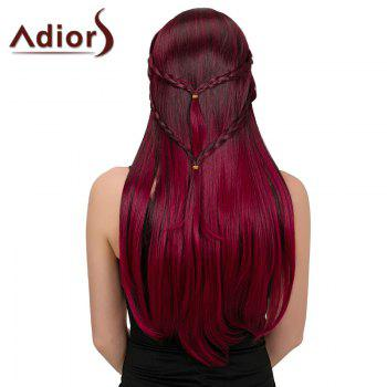 Adiors Long Natural Straight Colormix Side Bang Layered Braid Synthetic Wig