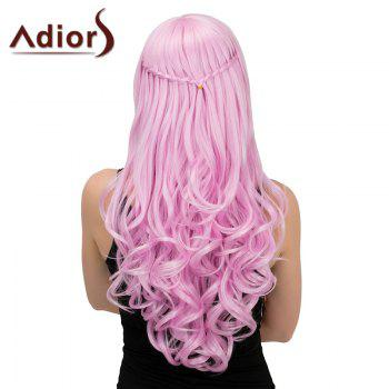 Adiors Long Half Braid Side Parting Wavy Synthetic Wig
