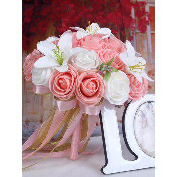 Artificial Rose and Lily Wedding Bouquets