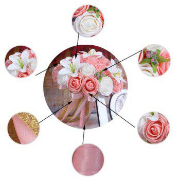 Artificial Rose and Lily Wedding Bouquets -  PINK/WHITE