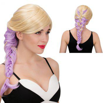 Adiors Side Parting Long Colormix Side Braid Synthetic Wig