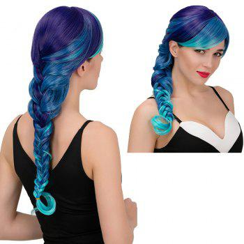 Adiors Long Colormix Side Bang Side Braid Synthetic Wig