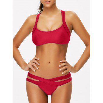 Scoop Neck Bandage Bikini