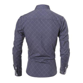 Long Sleeve Diamond Shirt - GRAY XL