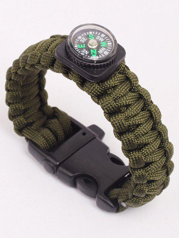 Multifunction Outdoor Camping Escape Seven Core Umbrella Rope Bracelet - ARMY GREEN