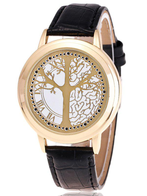 Waterproof Tree of Life LED Watch - GOLDEN