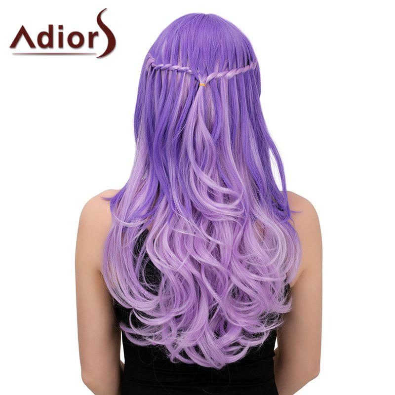 Adiors Colormix Long Side Bang Wavy Braid Synthetic WigHair<br><br><br>Color: COLORMIX