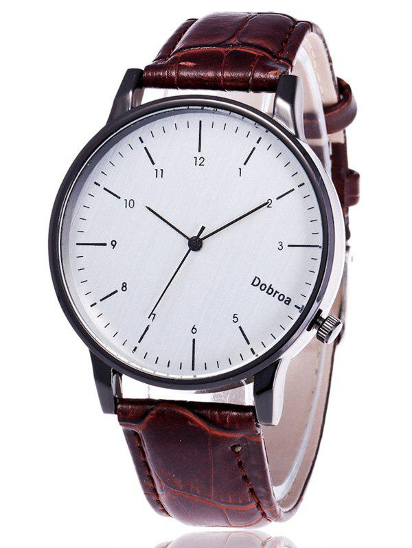 Faux Leather Band Number Wrist Watch faux leather rhinestone number watch