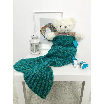 Sleeping Bag Crochet Mermaid Blanket Set For Baby