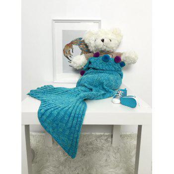 Handmade Crochet Pom Ball Mermaid Blanket For Baby