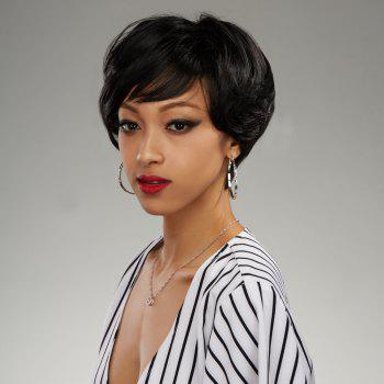 Bob Style Capless Shaggy Curly Short Side Parting Synthetic Wig