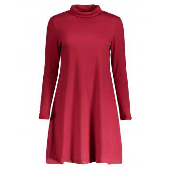 Turtleneck Long Sleeve T-Shirt Dress