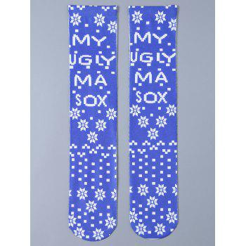 Christmas Snowflake Print Knit Stockings