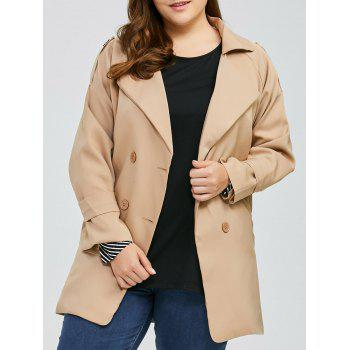 Plus Size Double Breasted Trench Coat