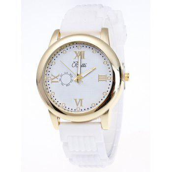 Silicone Roman Numerals Analog Watch